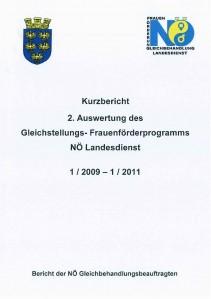 Kurzbericht - 2. Auswertung Gleichstellungs- Frauenförderungsprogramm NÖ Landesdienst 2009-2011 Broschüre