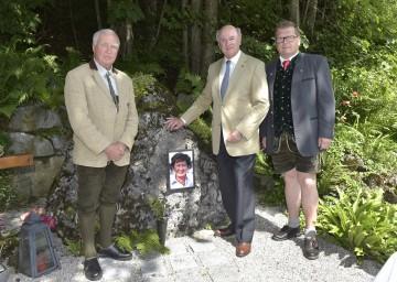 Eröffnung des Liese Prokop Parks: Prof. Gunnar Prokop, Landeshauptmann Dr. Erwin Pröll und der Türnitzer Bürgermeister Christian Leeb. (v.l.n.r.)