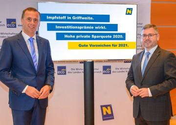 Wirtschafts-Landesrat Jochen Danninger und Finanz-Landesrat Ludwig Schleritzko