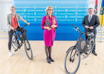"""Landeshauptfrau Johanna Mikl-Leitner sagte: """"Wir wollen beim Alltagsradeln zu den Top-Regionen in Europa aufsteigen."""""""