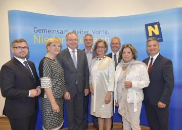Erste gemeinsame Regierungsklausur aller Mitglieder der NÖ Landesregierung.