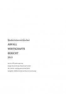 Abfallwirtschaftsbericht 2013