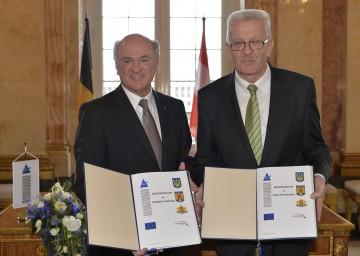 Landeshauptmann Dr. Erwin Pröll mit Ministerpräsident Winfried Kretschmann