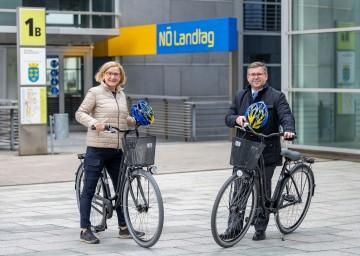 Auftakt in die Radsaison mit Landeshauptfrau Johanna Mikl-Leitner und Landesrat Ludwig Schleritzko.