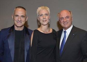 Manfred Wakolbinger, Dr. Alexandra Schantl und Landeshauptmann Dr. Erwin Pröll bei der Eröffnung der Landesgalerie für zeitgenössische Kunst in Krems (v.l.n.r.)
