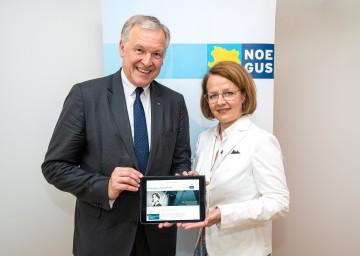 Landesrat Martin Eichtinger und Landesrätin Christiane Teschl-Hofmeister präsentieren das neue Projekt.