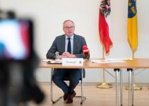 LH-Stellvertreter Stephan Pernkopf bei der Pressekonferenz