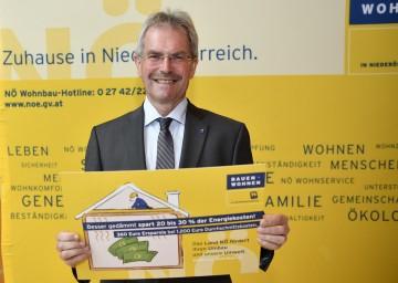 Landesrat Karl Wilfing informierte bei einer Pressekonferenz in St. Pölten über Neuerungen bei der NÖ Wohnbauförderung