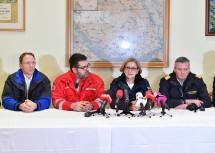 Der Geschäftsführer der Gas Connect Stefan Wagenhofer, Michael Sartori vom Roten Kreuz, Landeshauptfrau Johanna Mikl-Leitner und Landesfeuerwehrkommandant Dietmar Fahrafellner.