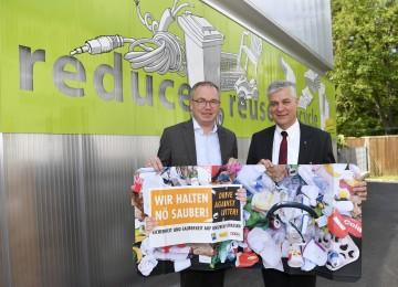 Landesrat Dr. Stephan Pernkopf und Anton Kasser, Präsident der NÖ Umweltverbände, stellten Arbeitsprogramm der NÖ Umweltverbände vor.