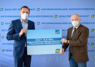Wirtschafts-Landesrat Jochen Danninger und ecoplus Geschäftsführer Helmut Miernicki