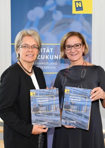 """Landeshauptfrau Johanna Mikl-Leitner und Landesrätin Petra Bohuslav präsentierten die """"Wirtschaftsstrategie Niederösterreich 2025"""""""