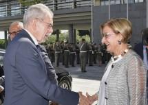 Landeshauptfrau Johanna Mikl-Leitner empfing Bundespräsident Alexander Van der Bellen in St. Pölten.