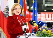 Landeshauptfrau Mikl-Leitner bei der Pressekonferenz.