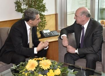 Arbeitsgespräch von Landeshauptmann Dr. Erwin Pröll mit dem bulgarischen Staatspräsidenten S. E. Mag. Rosen Plevneliev.r