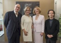 Von links nach rechts: Leon Botstein, Landeshauptfrau Johanna Mikl-Leitner, Ulrike Sych und Marshall Marcus.