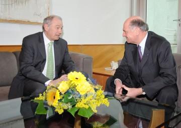 Hoher Besuch im NÖ Landhaus: LH Dr. Erwin Pröll und der Bayrische Ministerpräsident Dr. Günther Beckstein verständigten sich über Fragen der Sicherheit.