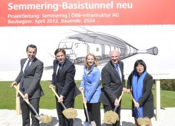 Spatenstich für den Semmering-Basistunnel neu