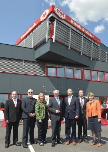 Landeshauptmann Dr. Erwin Pröll bei der Eröffnung der neuen Klenk & Meder Niederlassung in Krems.