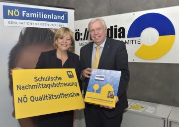 Landesrätin Mag. Barbara Schwarz und Mag. Johann Heuras, Amtsführender Präsidenten des Landesschulrates für Niederösterreich, präsentierten eine Qualitätsoffensive zur schulischen Nachmittagsbetreuung in Niederösterreich.