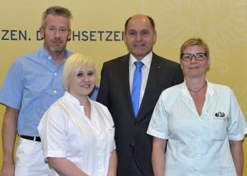 Landes-Gesundheitsreferentenkonferenz am 29. April in Baden:  Landeshauptmann-Stellvertreter Mag. Wolfgang Sobotka stellte die Positionen des Bundeslandes Niederösterreich vor.