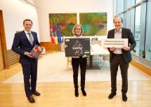 v.l.n.r.: Tourismuslandesrat Jochen Danninger, Landeshauptfrau Johanna Mikl-Leitner, Clemens Klingan, Geschäftsleiter SOS-Kinderdorf.