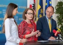 Pressekonferenz im NÖ Landhaus: Talentehaus Niederösterreich wird zur Science Academy Niederösterreich weiter entwickelt.