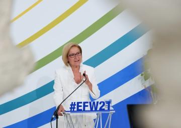 """Die Landeshauptfrau forderte: """"Mehr Miteinander und weniger Egoismus in der Europäischen Union"""""""