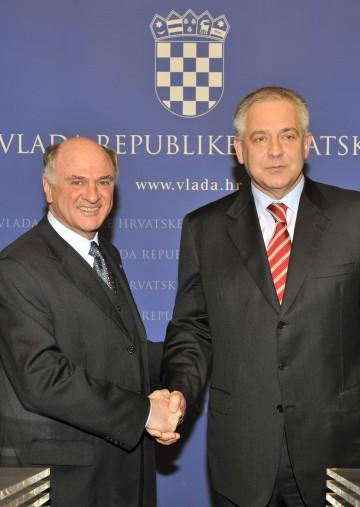 Landeshautpmann Dr. Erwin Pröll und der kroatische Ministerpräsident Dr. Ivo Sanader trafen sich heute in Zagreb zu einem Arbeitsgespräch.