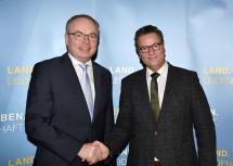 Allianz zwischen Niederösterreich und Baden-Württemberg: LH-Stellvertreter Stephan Pernkopf und Minister Peter Hauk (v.l.n.r.)