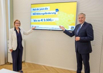Landeshauptfrau Johanna Mikl-Leitner und Landesrat Martin Eichtinger: NÖ Bildungsförderung soll Arbeitsplätze sichern