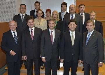 Zweites Informelles Außenministertreffen der Mitglieder der EU-Donauraumstrategie im NÖ Landhaus in St. Pölten.