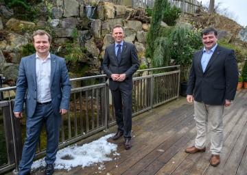 Andreas Schwarzinger, Geschäftsführer Waldviertel Tourismus, Landesrat Jochen Danninger und Josef Edlinger von der LEADER-Region Kamptal (v.l.n.r.) informierten über den Tourismus im Waldviertel