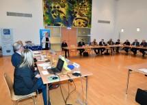 EU-Landesrätin Barbara Schwarz begrüßte die EU-Gemeinderäte und Gemeinderätinnen im Landhaus St. Pölten.