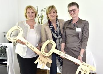 Eröffneten das neue Haus 42 des PBZ Mauer: Direktorin Sylvia Seibert, Landesrätin Mag. Barbara Schwarz und Renate Lokway (Leitung Pflege und Betreuung). (v.l.n.r.)