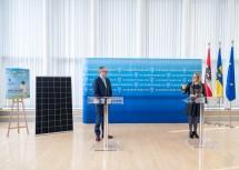 Pressekonferenz zum Klima- und Energieprogramm 2021 – 2025 mit Landeshauptfrau Johanna Mikl-Leitner und LH-Stellvertreter Stephan Pernkopf