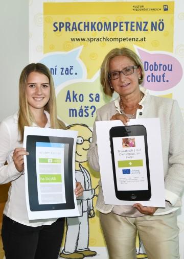 LH Mikl-Leitner: Neue Sprach-App vorgestellt.