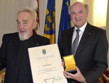Hohe Auszeichnung des Landes Niederösterreich für Prof. Arnulf Rainer.