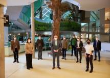 Naturgipfel im Haus für Natur im Museum Niederösterreich in St. Pölten: LH-Stellvertreter Stephan Pernkopf mit Vertretern der niederösterreichischen Schutzgebiete.