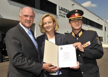 Landeshauptmann Dr. Erwin Pröll, Bundesministerin Dr. Maria Fekter und Landespolizeikommandant Mag. Arthur Reis eröffneten die Außenstelle des Landeskriminalamtes in Mödling.