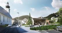 Visualisierungen des neuen WeltNaturerbe-Zentrums in Lunz am See