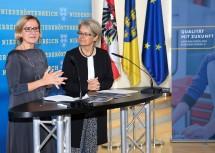 """""""Wirtschaftsstrategie Niederösterreich 2025"""": Landeshauptfrau Johanna Mikl-Leitner und Landesrätin Petra Bohuslav informierten in einem Pressegespräch"""