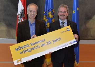 NÖVOG-Geschäftsführer Dr. Gerhard Stindl und Landesrat Mag. Karl Wilfing informierten über die erfolgreiche Saison der NÖVOG (v.l.n.r.).