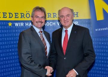 Landeshauptmann Dr. Erwin Pröll und Landesrat Mag. Karl Wilfing präsentierten ein Maßnahmenpaket für die NÖ Pendlerinnen und Pendler.