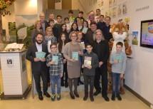 Eröffnung des 15. Kinder- und Jugendbuchfestivals mit Landeshauptfrau Johanna Mikl-Leitner (vorne, Mitte) im Museum Niederösterreich