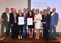 Die Preisträger mit den Ehrengästen und Sponsoren-Vertretern.