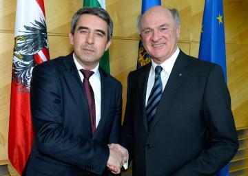Landeshauptmann Dr. Erwin Pröll mit dem bulgarischen Staatspräsidenten Mag. Rosen Plevneliev.