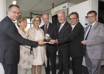 Von links nach rechts: Helmut Loibl, Sonja Zwazl, Landeshauptfrau Johanna Mikl-Leitner, Veit Schmid-Schmidsfelden, Klaus Schneeberger, Josef Wiesler und Franz Rennhofer.