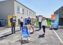 Landesrat Martin Eichtinger, Bürgermeister Andreas Pichler, Herr Franz Schenk, Frau Julia Schenk, Herr Oliver Hruby und Frau Doris Lintner