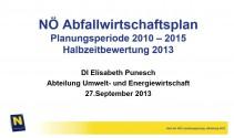 Präsentation Halbzeitbewertung NÖ AWP 2010-2015